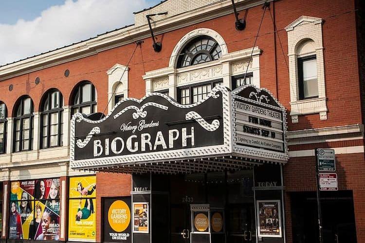 Biograph Theatre marquee