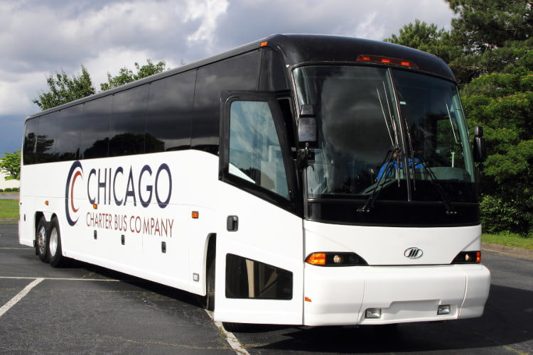 chicago charter bus company bus image