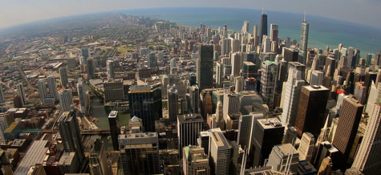 the view from skydeck chicago at willis tower